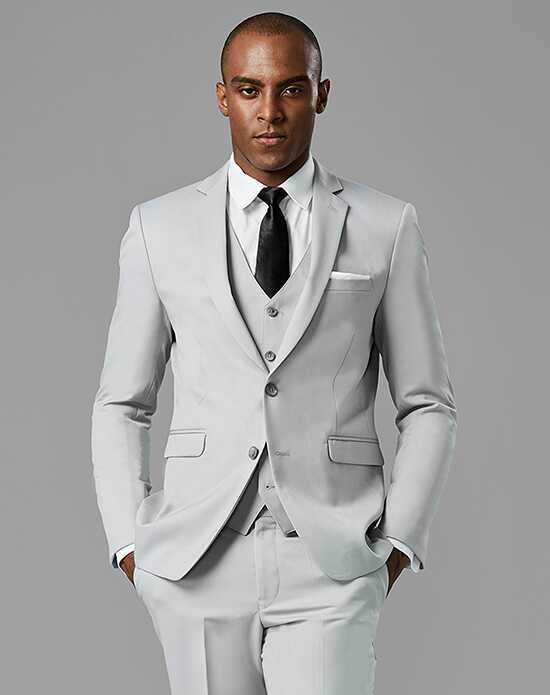 Generation Tux Cement Gray Notch Lapel Suit Gray Tuxedo