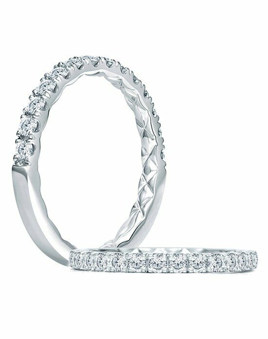 A.JAFFE WR1027Q White Gold Wedding Ring