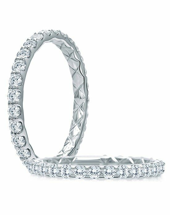 A.JAFFE WR1025Q White Gold Wedding Ring