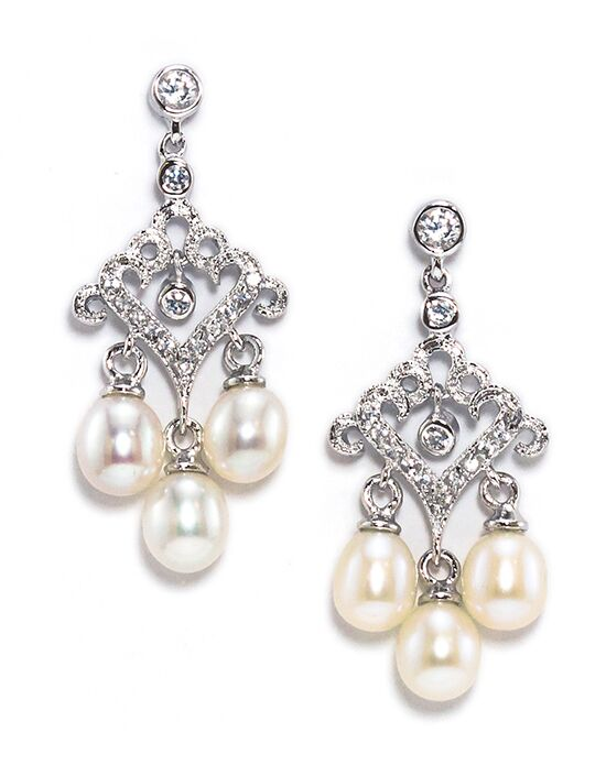 Anna Bellagio TINSLEY FRESHWATER PEARL AND CRYSTAL CHANDELIER BRIDAL EARRING Wedding Earring photo
