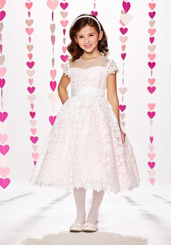 Joan Calabrese by Mon Cheri 217389 Ivory Flower Girl Dress