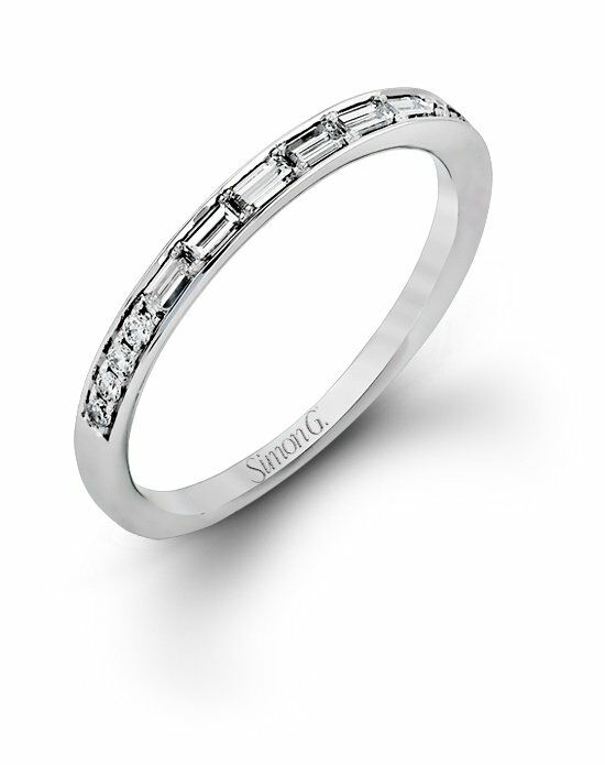 Simon G. Jewelry MR2220 Band White Gold Wedding Ring