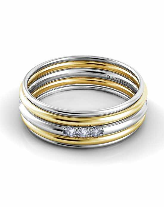Danhov Classico Round Band Gold White Gold Wedding Ring