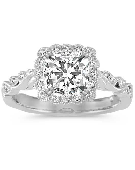 Shane Co. Vintage Princess, Cushion, Round Cut Engagement Ring