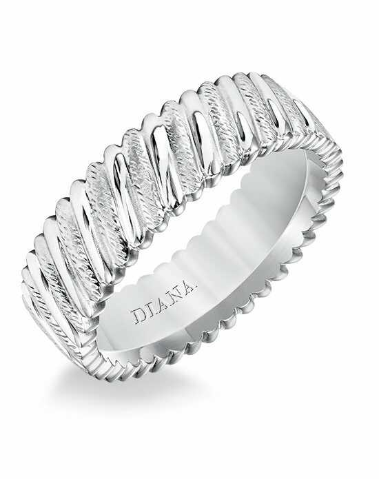 Diana 11-N21W100-G Platinum, Gold Wedding Ring