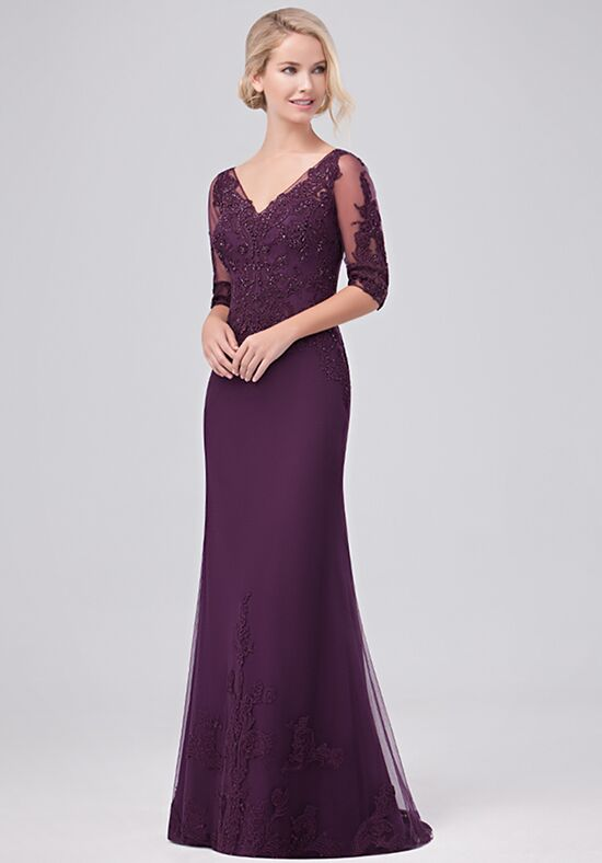 Val Stefani Celebrations MB7630 Purple Mother Of The Bride Dress