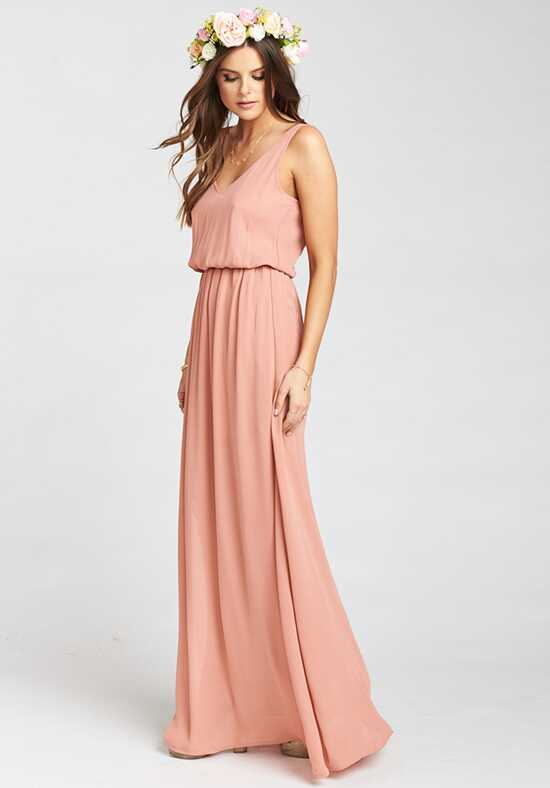 Show Me Your Mumu Kendall Maxi Dress - Rustic Mauve Crisp V-Neck Bridesmaid Dress