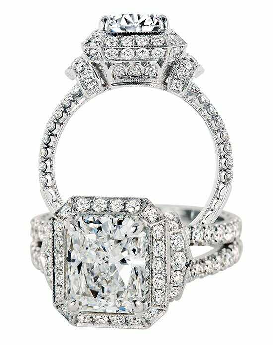 Jack Kelege Radiant Cut Engagement Ring