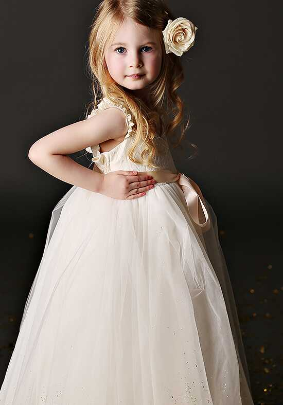 FATTIEPIE Grace Lace Ivory Flower Girl Dress