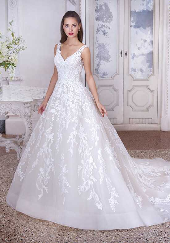 Platinum by Demetrios DP384 - Nadine Ball Gown Wedding Dress