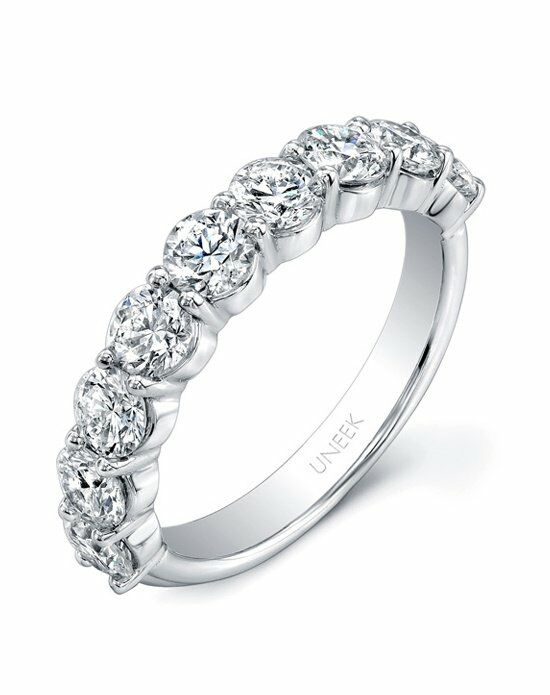Uneek Fine Jewelry UWB04 White Gold Wedding Ring
