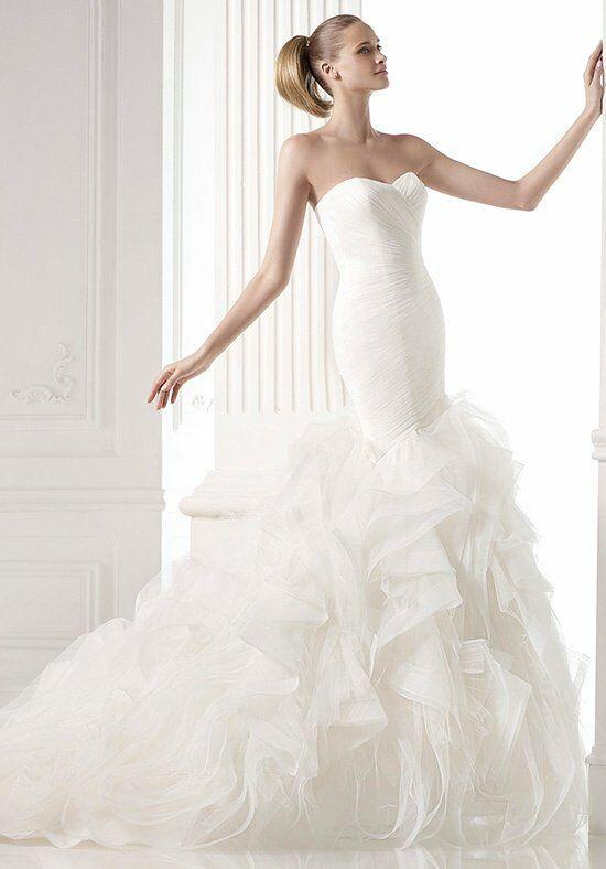 Pronovias mildred wedding dress the knot for Pronovias wedding dresses price range