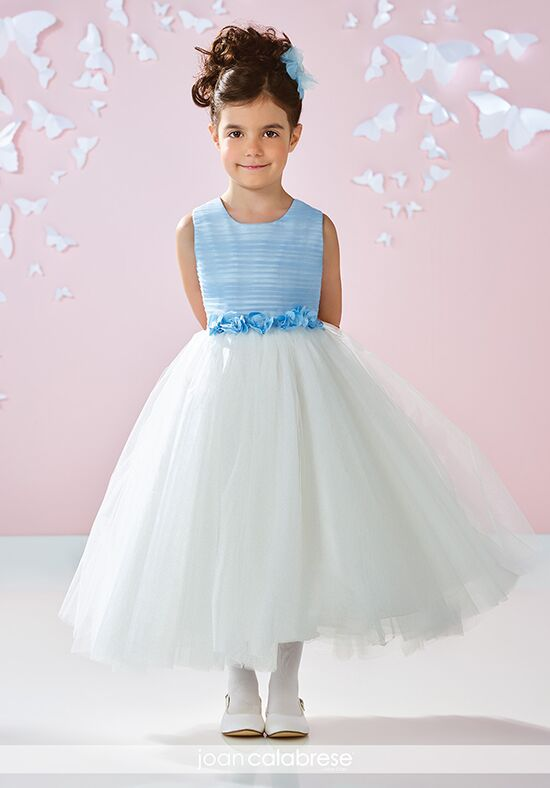 Joan Calabrese by Mon Cheri 117355 Blue Flower Girl Dress