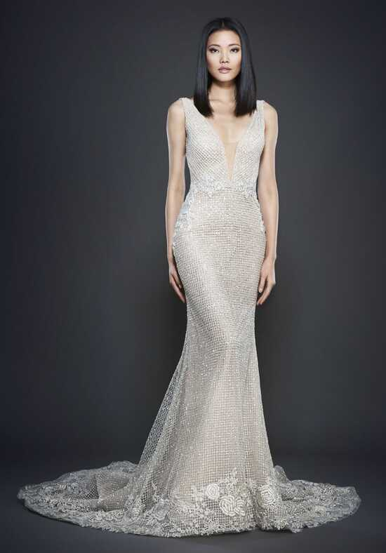 Lazaro 3701 Sheath Wedding Dress