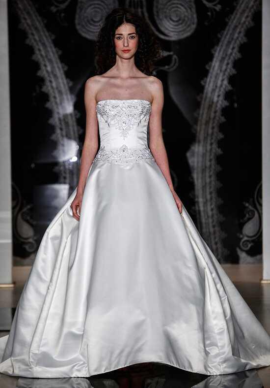 Satin wedding dresses reem acra junglespirit Gallery