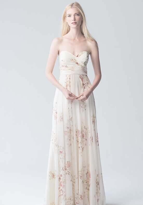 Jenny Yoo Collection (Maids) Adeline Eden Bouquet Print #1781EB Sweetheart Bridesmaid Dress