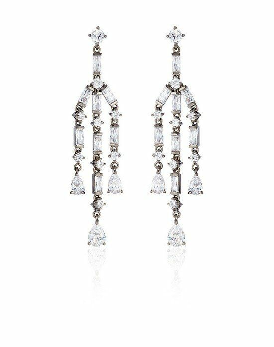 Thomas Laine Ava Baguette Chandelier Earrings Wedding Earring photo