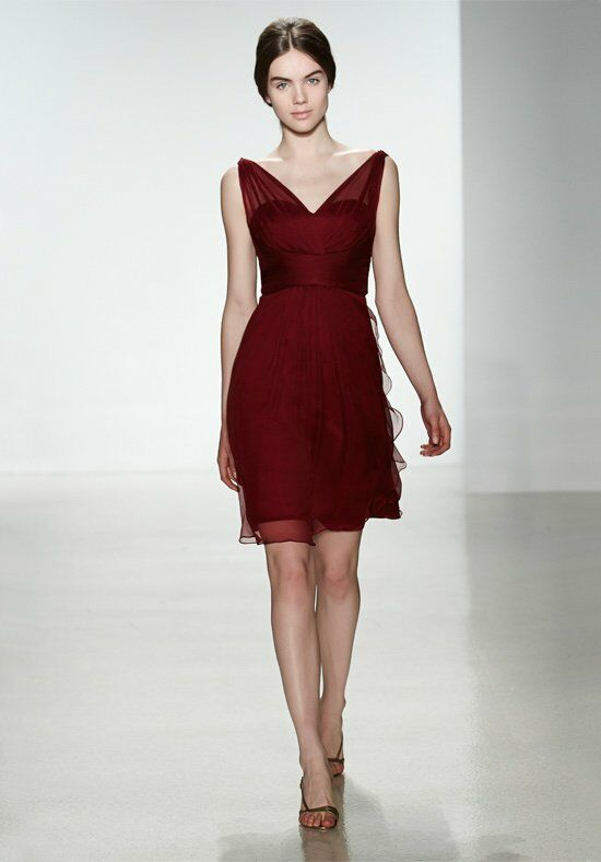 Amsale Bridesmaids G777C V-Neck Bridesmaid Dress
