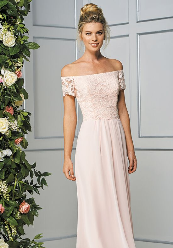 B2 by Jasmine B193059 Off the Shoulder Bridesmaid Dress