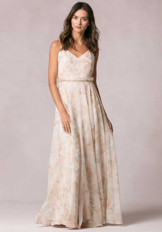 Jenny Yoo Collection (Maids) Inesse Print V-Neck Bridesmaid Dress