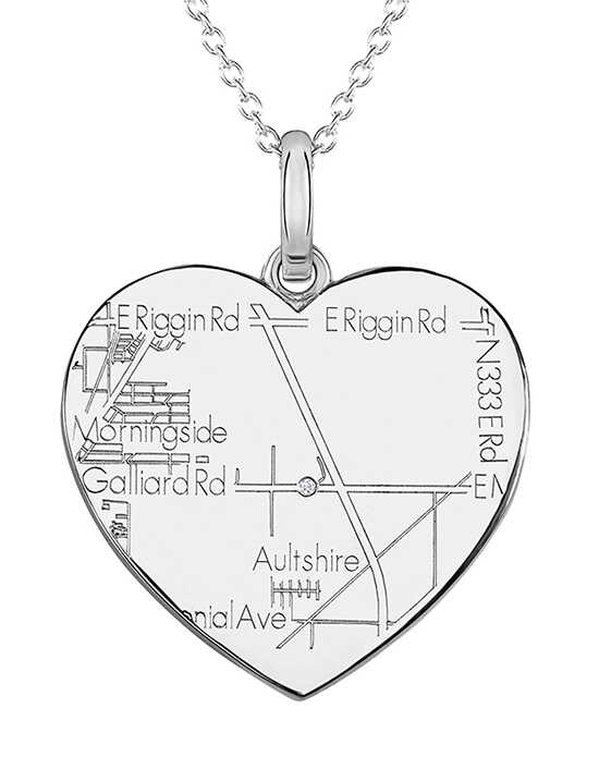 A.JAFFE Maps MAPP009 Wedding Necklace photo