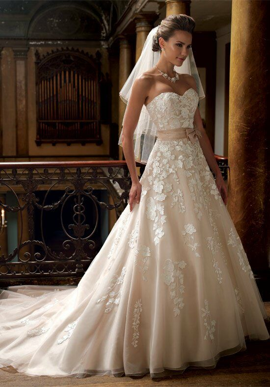 David Tutera For Mon Cheri 213247 Hillary A Line Wedding Dress