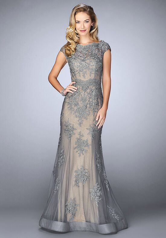 La Femme Evening 23059 Grey Mother Of The Bride Dress