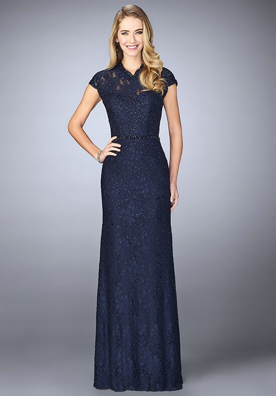 La Femme Evening 23148 Blue Mother Of The Bride Dress