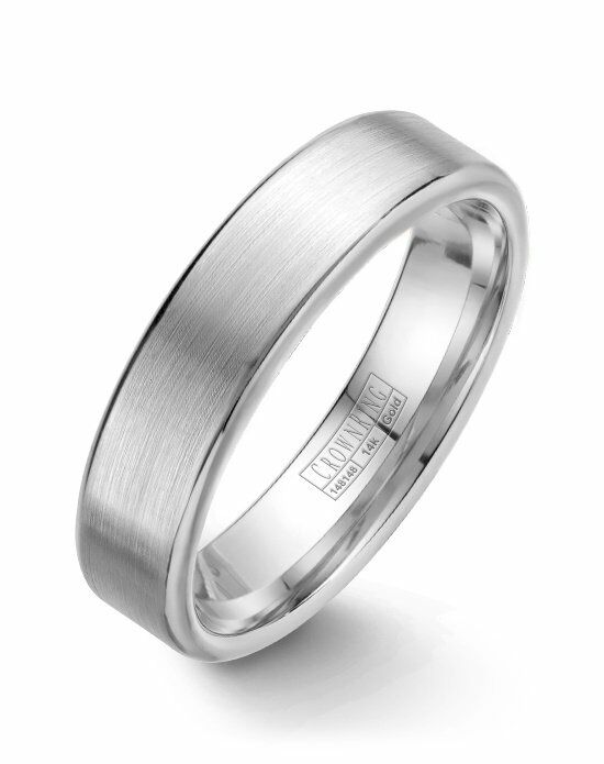 CrownRing WB-9096-M10 White Gold Wedding Ring