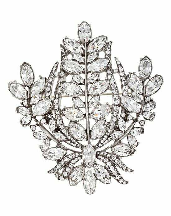 Thomas Laine Bridal Multi Crystal Pin Silver