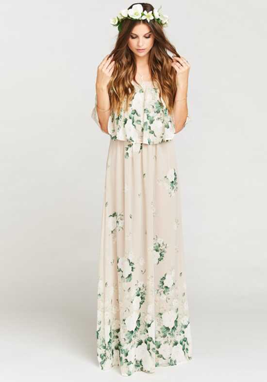Show Me Your Mumu Hacienda Maxi Dress - Bouquet Toss Off the Shoulder Bridesmaid Dress