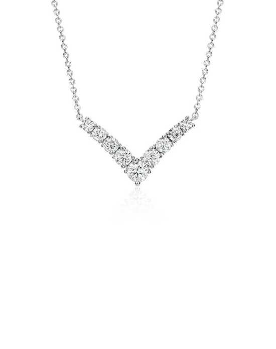 "Blue Nile Diamond ""V"" Necklace Wedding Necklaces photo"
