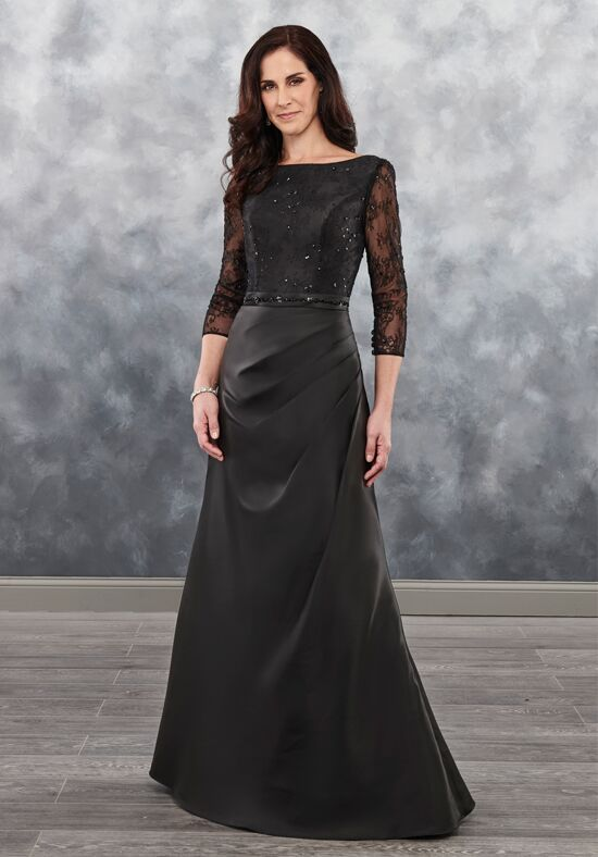 Beautiful Mothers by Mary's MB8032 Black Mother Of The Bride Dress