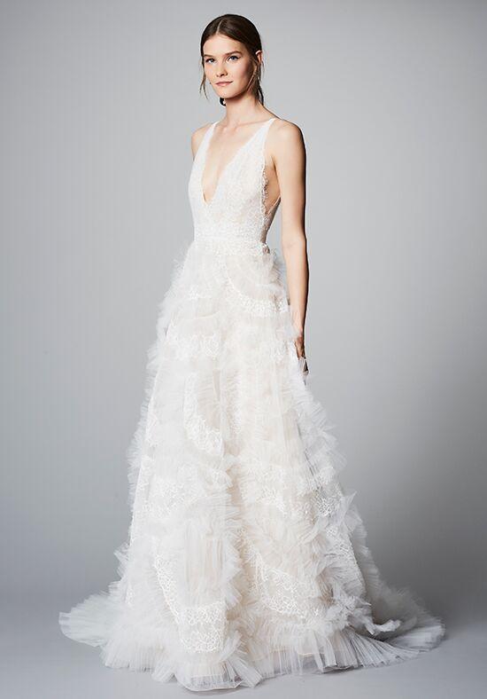 Marchesa daffodill wedding dress the knot for Marchesa wedding dress prices