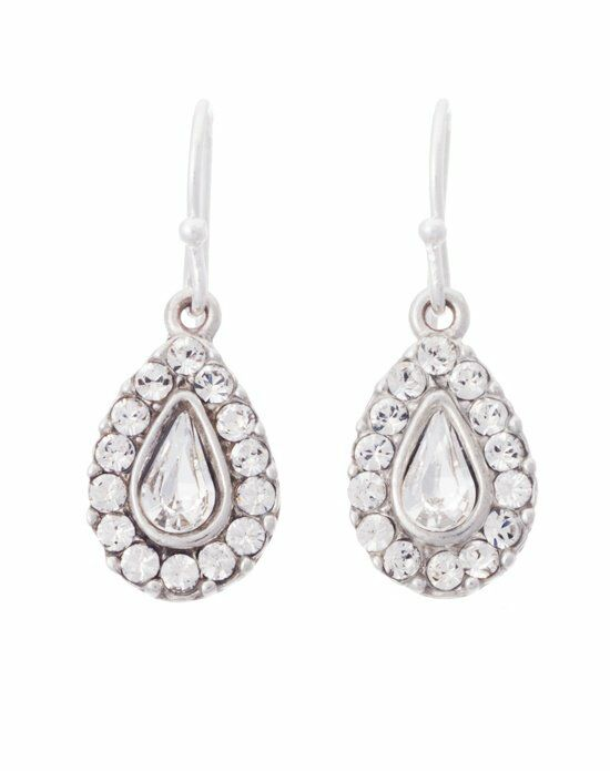 Thomas Laine Ben-Amun Romance Teardrop Crystal Earring Wedding Earring photo