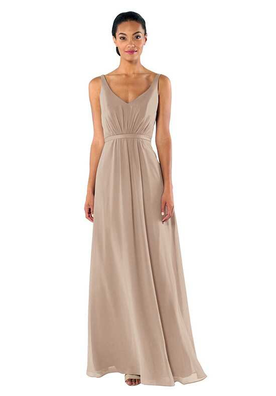 Brideside Brideside Mary-Kate in Chai V-Neck Bridesmaid Dress