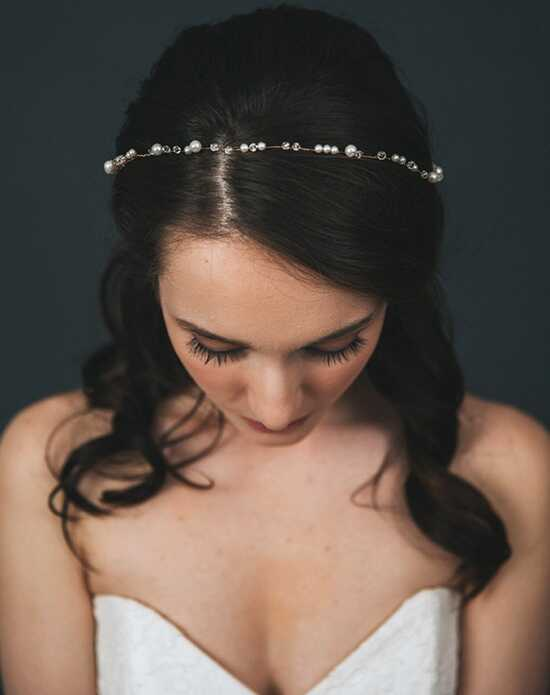 Davie & Chiyo | Hair Accessories & Veils Sylvie Tiara Gold, Ivory, Silver Headband