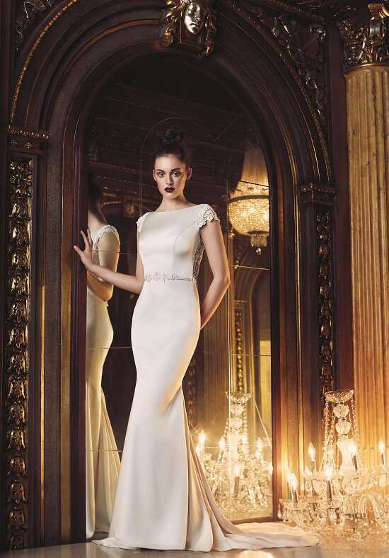 Paloma Blanca 4706 Sheath Wedding Dress