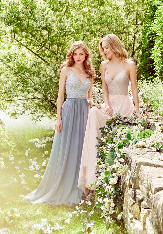 Hayley Paige Occasions 5656 V-Neck Bridesmaid Dress