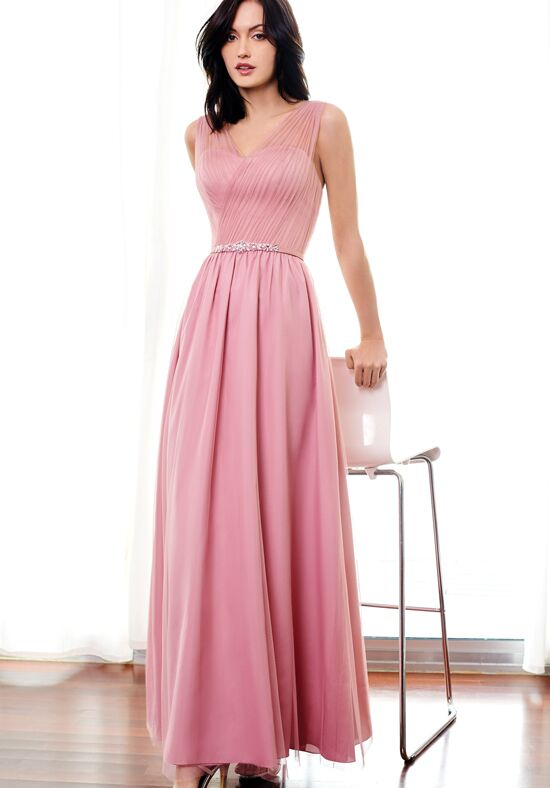 short pink and brown bridesmaid dresses with belt under 100
