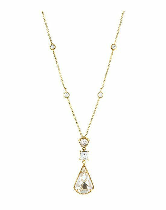 Thomas Laine Lucille Pendant Necklace - Yellow Gold Wedding Necklace photo