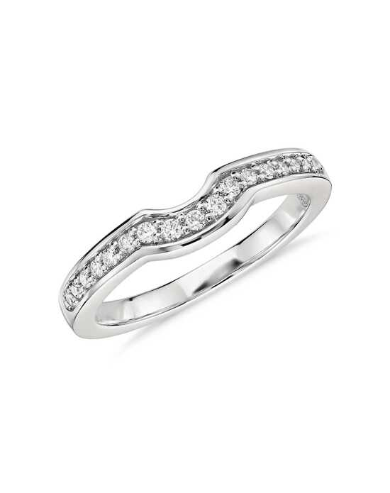 Colin Cowie Curved Pavé Diamond Ring Platinum Wedding Ring