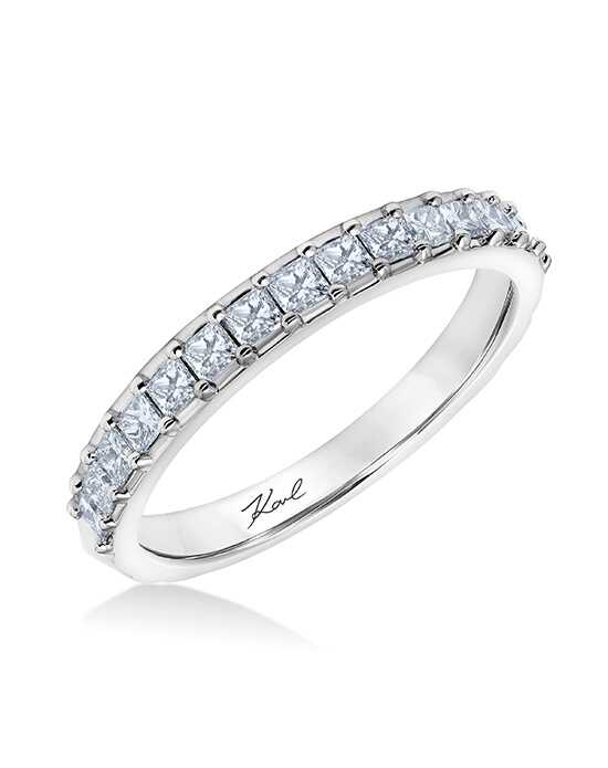KARL LAGERFELD 31-KA128-L Platinum Wedding Ring