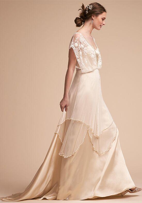 Bhldn rhea bodysuit amora skirt wedding dress the knot for Wedding dress bodysuit and skirt