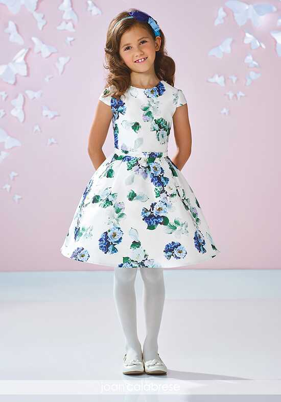 Joan Calabrese by Mon Cheri 117353 Blue Flower Girl Dress