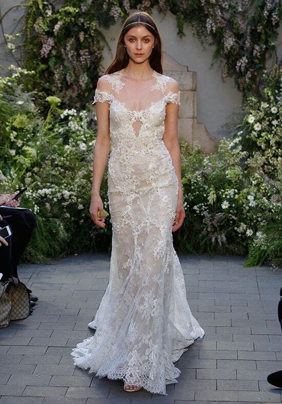 Monique Lhuillier Geneva Sheath Wedding Dress