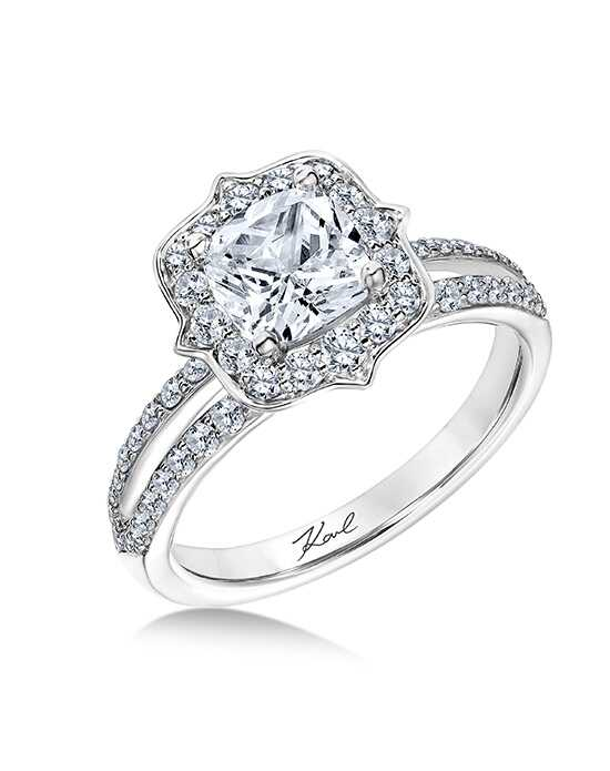 KARL LAGERFELD Glamorous Cushion Cut Engagement Ring