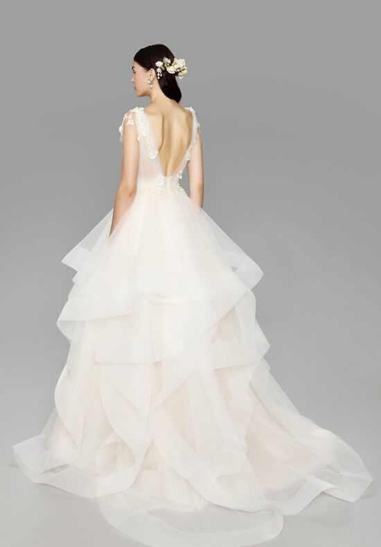 Marchesa rosette wedding dress the knot for Marchesa wedding dress price