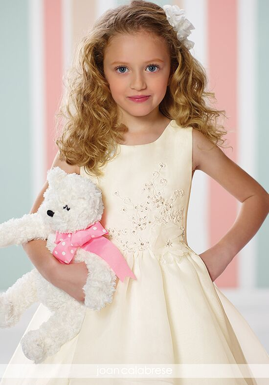 Joan Calabrese by Mon Cheri 216316 Ivory Flower Girl Dress