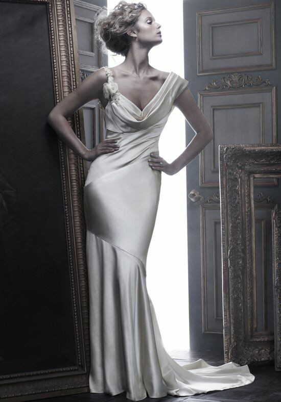 Cb Couture B055 Sheath Wedding Dress